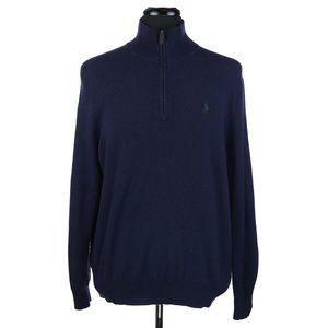 Polo Ralph Lauren 1/2 Zip 100% Merino Wool Sweater